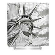 Lady Liberty Shower Curtain by Sarah Batalka