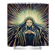 Lady Of Light Shower Curtain by Lyn Pacificar