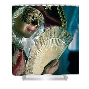 Lady Of Renaissance Shower Curtain by Zina Zinchik