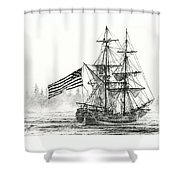 Lady Washington At Friendly Cove Shower Curtain by James Williamson