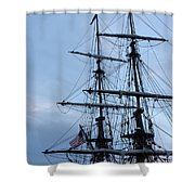 Lady Washington's Masts Shower Curtain by Heidi Smith