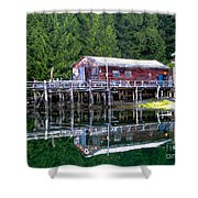 Lagoon Cove Shower Curtain by Robert Bales