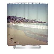 Laguna Beach Retro Picture Shower Curtain by Paul Velgos