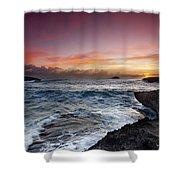 Laie Point Sunrise Shower Curtain by Sean Davey