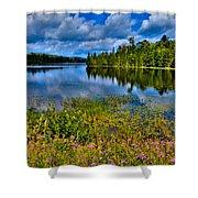 Lake Abanakee At Indian Lake New York Shower Curtain by David Patterson