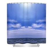 Lake Huron And Sky Shower Curtain by Vast Photography