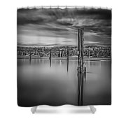 Lake Oyeren II Shower Curtain by Erik Brede