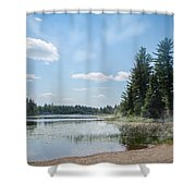 Up North - Lake Superior Misty Beach Shower Curtain by Patti Deters