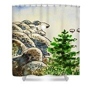 Lake Tahoe - California Sketchbook Project Shower Curtain by Irina Sztukowski