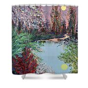 Lake Tranquility Shower Curtain by Alys Caviness-Gober