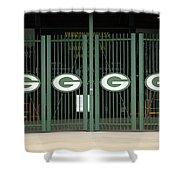 Lambeau Field - Green Bay Packers Shower Curtain by Frank Romeo
