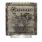 Lamont Grand Vin De Bordeaux  Shower Curtain by Jon Neidert