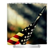 Land Of The Free - 2 Shower Curtain by Susanne Van Hulst