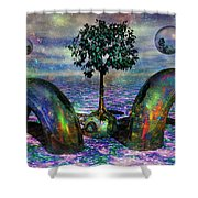Land Of World 8624028 Shower Curtain by Betsy C  Knapp