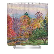 Landscape At Hancock In New Hampshire Shower Curtain by Lilla Cabot Perry