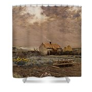Landscape Shower Curtain by Jean Charles Cazin