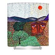 Landscape Shower Curtain by Sarah Loft