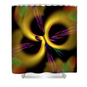 Laser Lights Abstract Shower Curtain by Carolyn Marshall