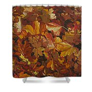 Last Fall In Monroe Shower Curtain by Thu Nguyen