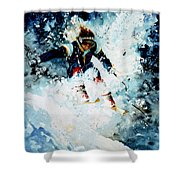 Last Run Shower Curtain by Hanne Lore Koehler