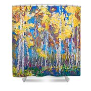 Last Stand Shower Curtain by Talya Johnson