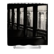 Last Stop Shower Curtain by Amy Weiss