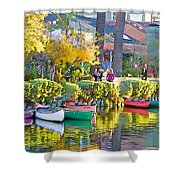 Late Afternoon Stroll Shower Curtain by Chuck Staley
