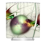 Latent Images Shower Curtain by Anastasiya Malakhova