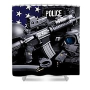 Law Enforcement Tactical Police Shower Curtain by Gary Yost