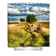 Lazy Summer Afternoon Shower Curtain by Tom Schmidt