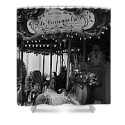Le Carrousel Shower Curtain by David Rucker