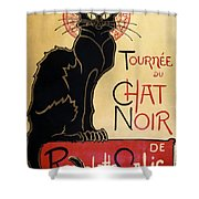 Le Chat Noir Shower Curtain by Nomad Art And  Design