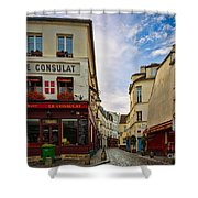 Le Consulat Shower Curtain by Inge Johnsson