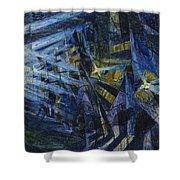 Le Forze Di Una Strada Shower Curtain by Umberto Boccioni