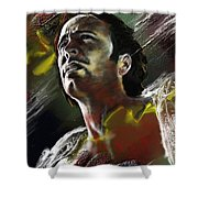 Le Messager Shower Curtain by Francoise Dugourd-Caput