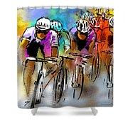Le Tour De France 03 Shower Curtain by Miki De Goodaboom