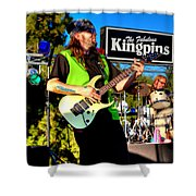 Lead Guitarist Jimmy Dence - The Fabulous Kingpins Shower Curtain by David Patterson