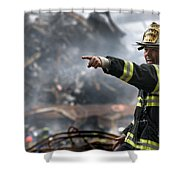 Leading Through Chaos Shower Curtain by Mountain Dreams