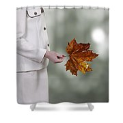 leaf Shower Curtain by Joana Kruse