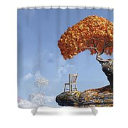 Leaf Peepers Shower Curtain by Cynthia Decker