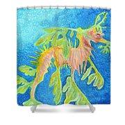 Leafy Seadragon Shower Curtain by Tanya Hamell