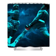 Lean Back Shower Curtain by Brian Reaves