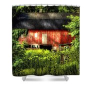 Leave Our Farms Shower Curtain by Lois Bryan