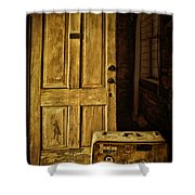 Leaving Home Shower Curtain by Priscilla Burgers