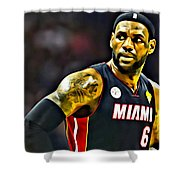 LeBron Shower Curtain by Florian Rodarte