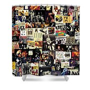 Led Zeppelin Collage Shower Curtain by Taylan Soyturk