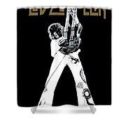 Led Zeppelin No.06 Shower Curtain by Caio Caldas