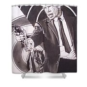 Lee Marvin - Point Blank Shower Curtain by Sean Connolly
