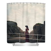Left Alone Shower Curtain by Joana Kruse