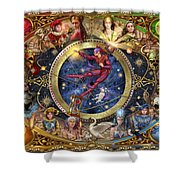 Legacy Of The Divine Tarot Shower Curtain by Ciro Marchetti